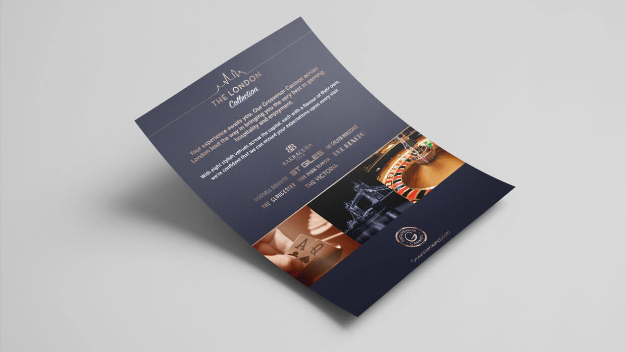 Grosvenor Casinos London Collection Leaflet