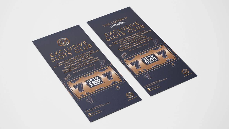 Grosvenor Casinos London Collection DL Flyer